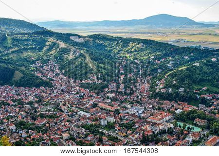 Panoramic view of the city of Brasov, Romania