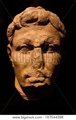 Roman Statue of Roman ruins of the ancient Roman city of Conimbriga Beiras region Portugal