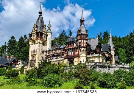 Magnificent Peles Palace in Sinaia in Romania
