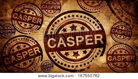 casper, vintage stamp on paper background