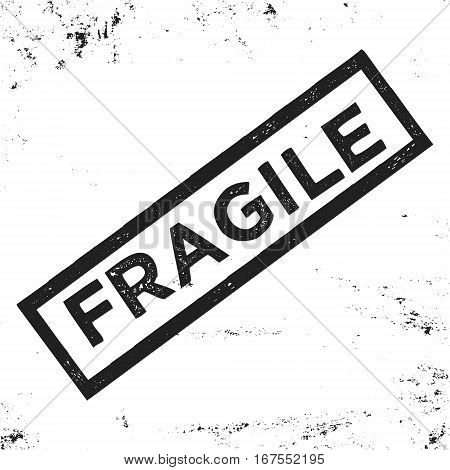 T-shirt print design. Fragile vintage stamp. Printing and badge applique label t-shirts jeans casual wear. Vector illustration.