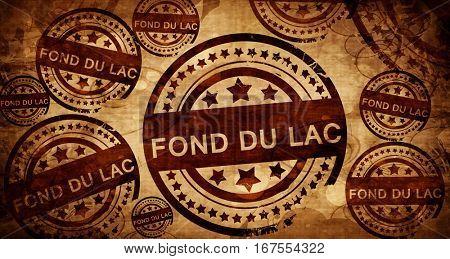 fond du lac, vintage stamp on paper background