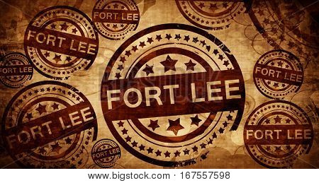 fort lee, vintage stamp on paper background