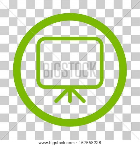 Presentation Screen rounded icon. Vector illustration style is flat iconic symbol inside a circle eco green color transparent background. Designed for web and software interfaces.