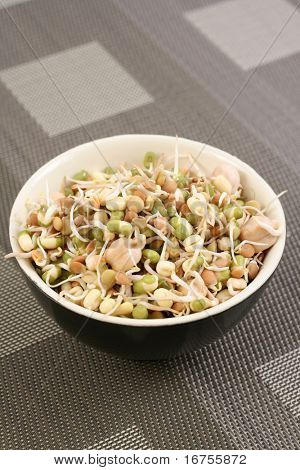 plate full of soya-beans and other beans - healthy eating