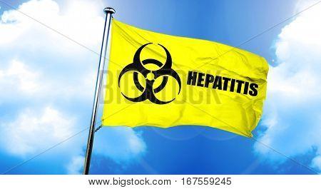 Hepatitis flag, 3D rendering