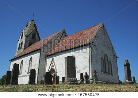 Old church and cementery in Gotland, Sweden,