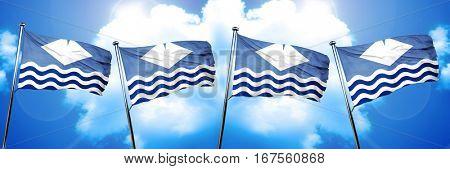 Isle of wight flag, 3D rendering