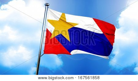 Lafayette flag, 3D rendering