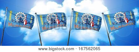 Milwaukee flag, 3D rendering
