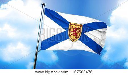 Nova scotia flag, 3D rendering