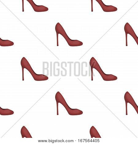Stiletto icon in cartoon style isolated on white background. Shoes pattern vector illustration.