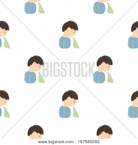 Vomiting icon cartoon. Single sick icon from the big ill, disease cartoon. - stock vector