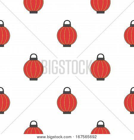 Korean lantern icon in cartoon style isolated on white background. South Korea pattern vector illustration.