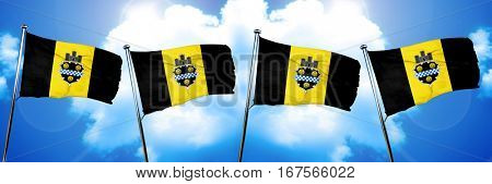Pittsburgh flag, 3D rendering