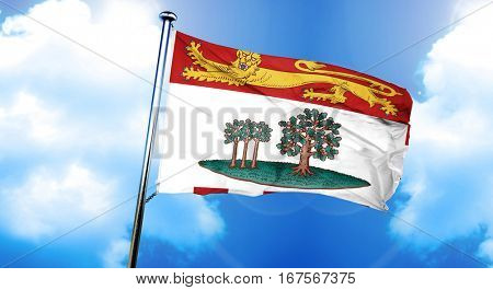 Prince edward island flag, 3D rendering