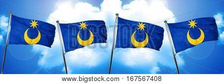 Portsmouth flag, 3D rendering