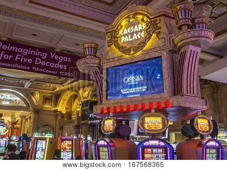 LAS VEGAS - NOV 24 : The Caesars Palace interior on October 05 2016 in Las Vegas. Caesars Palace is a luxury hotel and casino located on the Las Vegas Strip. Caesars has 3348 rooms in five towers