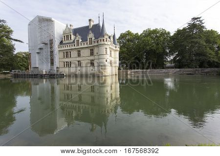 Azay Le Rideau Castle In The Loire Valley