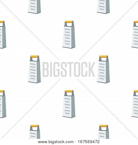 Grater icon in flat style isolated on white background. Kitchen pattern vector illustration.
