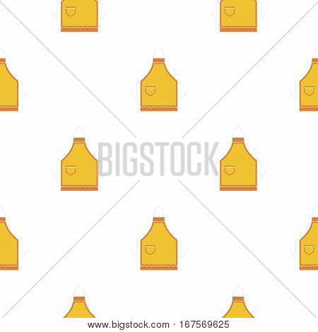 Apron icon in flat style isolated on white background. Kitchen pattern vector illustration.