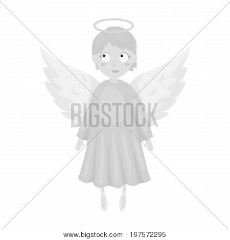 Soul icon in monochrome design isolated on white background. Funeral ceremony symbol stock vector illustration.