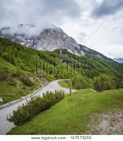 Roat to the Vrsic pass Triglav National Park Slovenia
