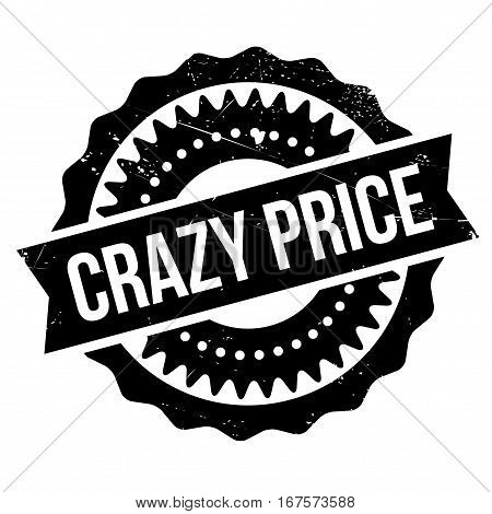 Crazy price stamp. Grunge design with dust scratches. Effects can be easily removed for a clean, crisp look. Color is easily changed.