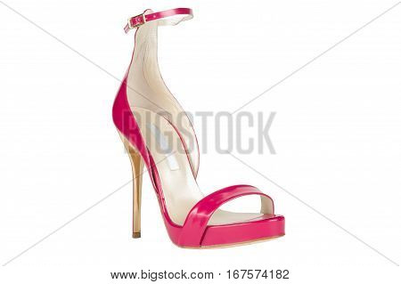 Shoes. Women's shoes on a white background. premium footwear. Italian branded shoes