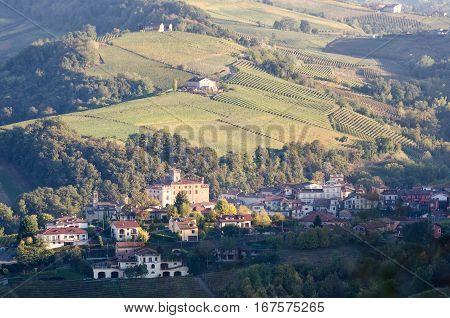 Le Langhe Barolo and landscape scenic view