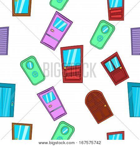 Barrier door pattern. Cartoon illustration of barrier door vector pattern for web