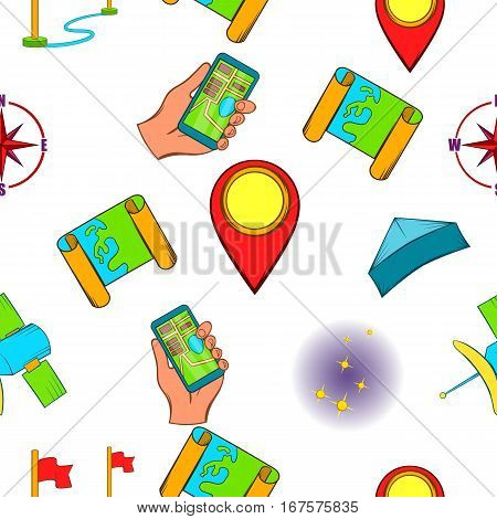 Find the way pattern. Cartoon illustration of find the way vector pattern for web