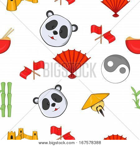 China pattern. Cartoon illustration of China vector pattern for web