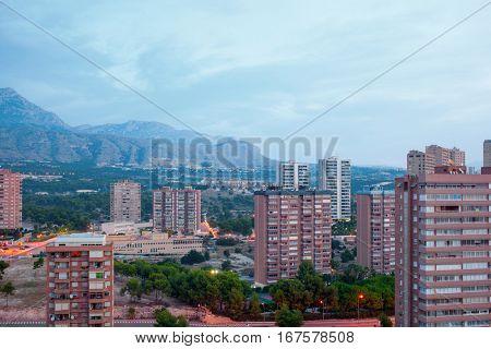Modern skyscrapers of Benidorm