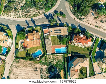 photo of Aerial View Red Tiles Roofs Portugal
