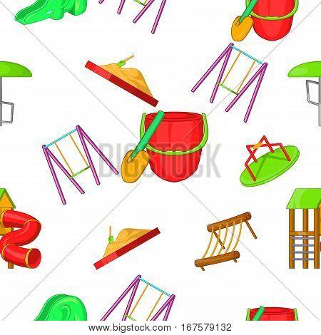 Entertainment for kid pattern. Cartoon illustration of entertainment for kid vector pattern for web