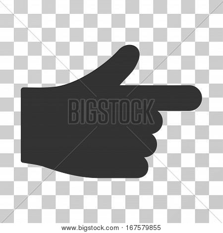 Index Hand vector pictograph. Illustration style is flat iconic gray symbol on a transparent background.
