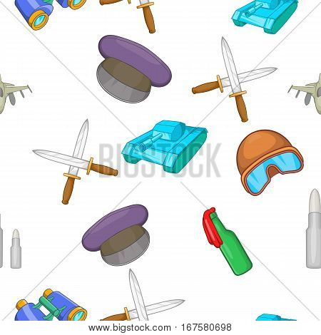 Weaponry pattern. Cartoon illustration of weaponry vector pattern for web