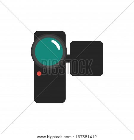 Portable digital camcorder icon vector illustration graphic design