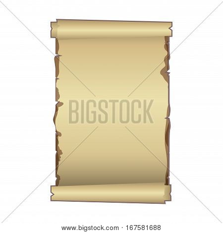 old ancient papyrus parchment scroll vector illustration
