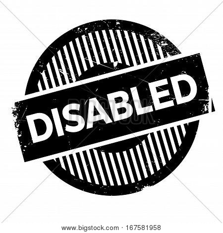 Disabled rubber stamp. Grunge design with dust scratches. Effects can be easily removed for a clean, crisp look. Color is easily changed.