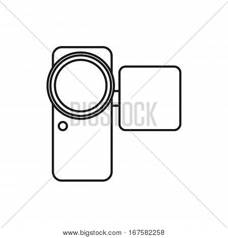 Portable digital camcorder icon vector illustration graphic design