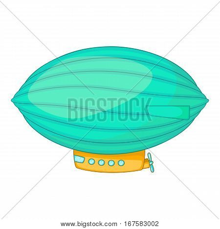 Oval airship icon. Cartoon illustration of oval airship vector icon for web