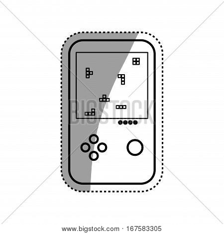 Tetris puzzle videogame icon vector illustration graphic design