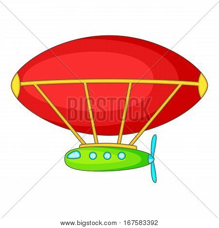 Dirigible icon. Cartoon illustration of dirigible vector icon for web