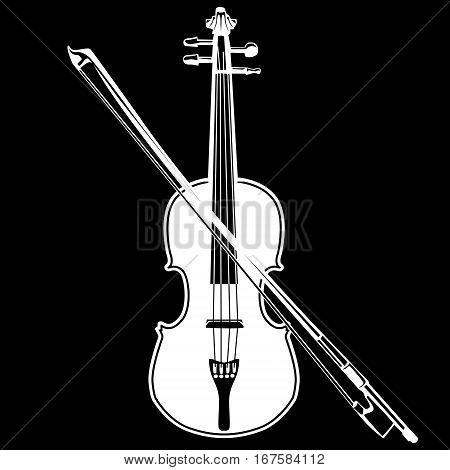 Violin Isolated On Black