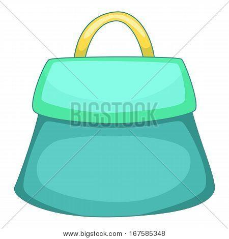 Small woman bag icon. Cartoon illustration of small woman bag vector icon for web