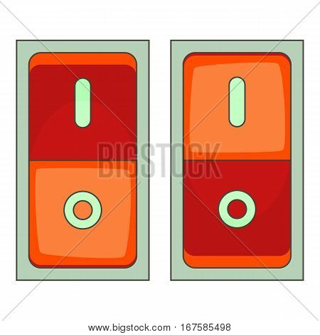 Electric switch icon. Cartoon illustration of electric switch vector icon for web