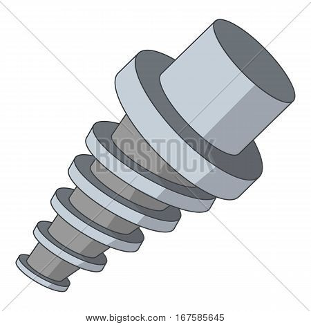 Spiral tool l icon. Cartoon illustration of spiral tool vector icon for web