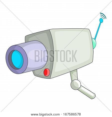 Camera cctv icon. Cartoon illustration of camera cctv vector icon for web